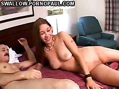 Cute Teen Swallows Cum