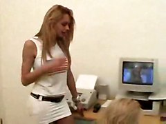 Camile Rios   Hot Blonde And Hot Shemale Fuck