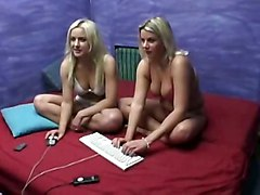 Blondes Watch Themselves On Webcam