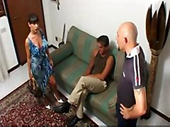 Mature Brunette Loves To Be Fucked By 2 Guys At The Same Tim