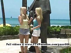 Sandy And Yana From Ftv Girls  Adorable Lesbians Public Flas