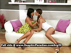 Klara And Carie From Sapphic Erotica  Lesbian Girls Licking