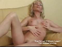 Blessy Mature Blonde Plays With Herself