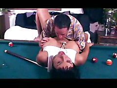 Isabella Rossa The Busty Lady Gets Fucked On Pool Table