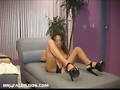 Shannen Riding Multiple Thick Brutal Dildos